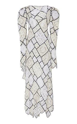 Patchwork Lace Cotton-Blend Maxi Dress