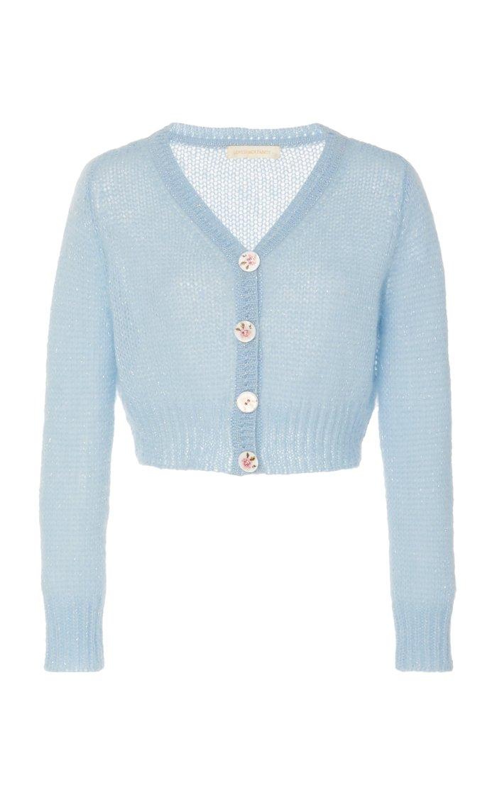 Folley Cropped Wool-Blend Cardigan