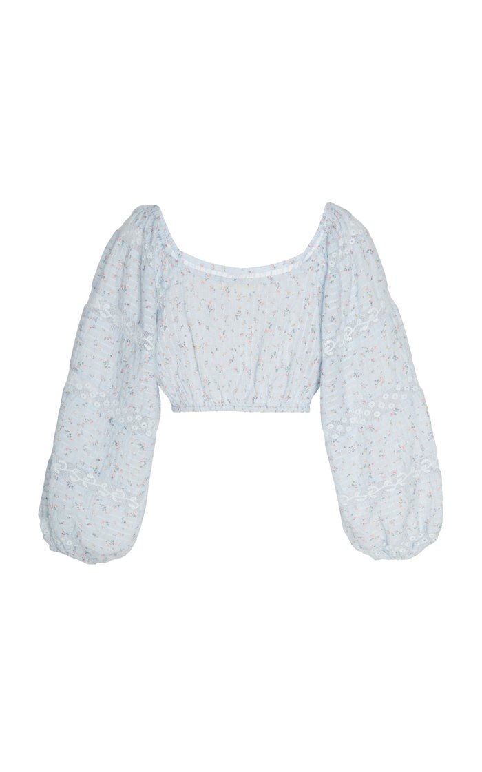 Albertina Cropped Cotton Top