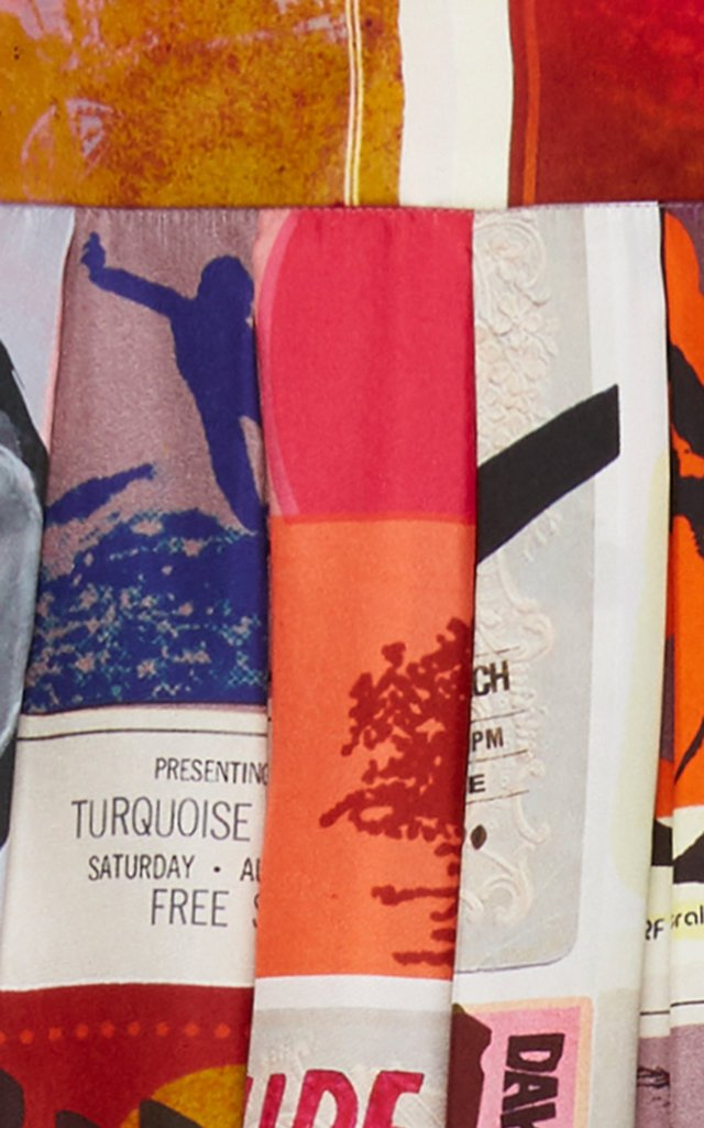 Wavelength Printed Wide-Leg Silk Pants