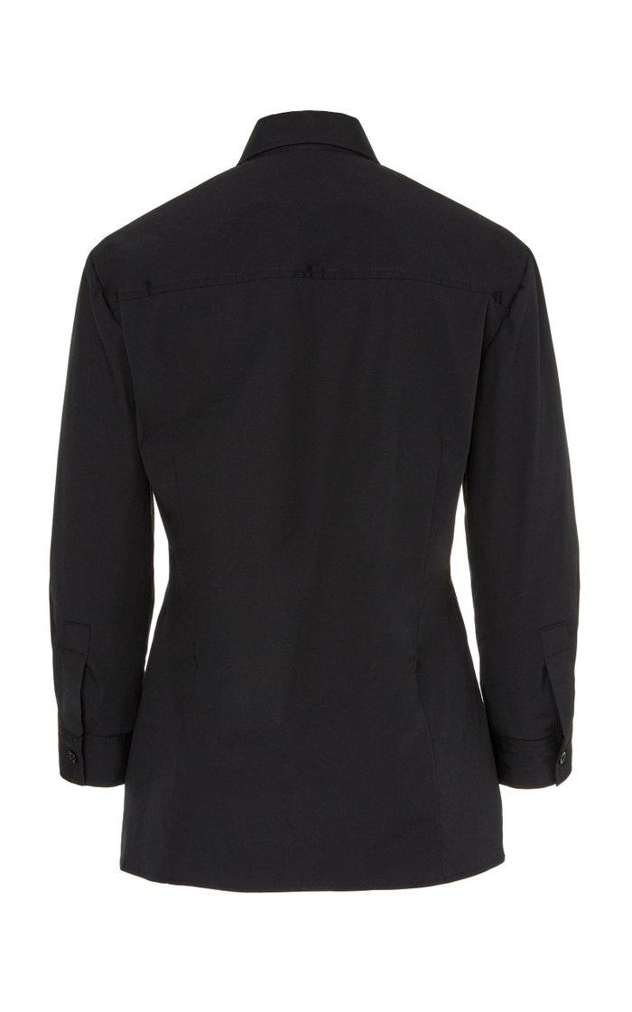 Slim-Fit Cotton-Blend Button-Down Shirt