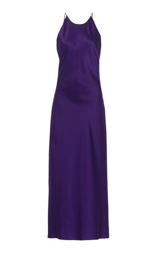 Bias Open-Back Satin Dress