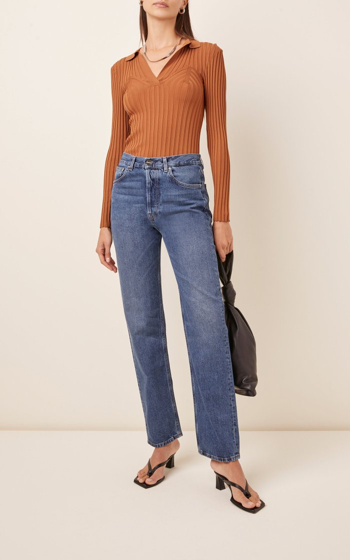 Ease Rigid Straight-Leg Jeans