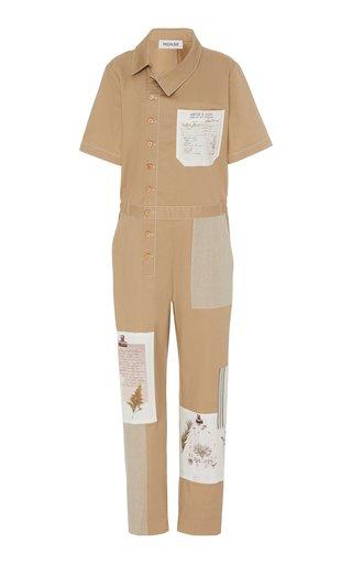 Patchwork Cotton-Blend Jumpsuit