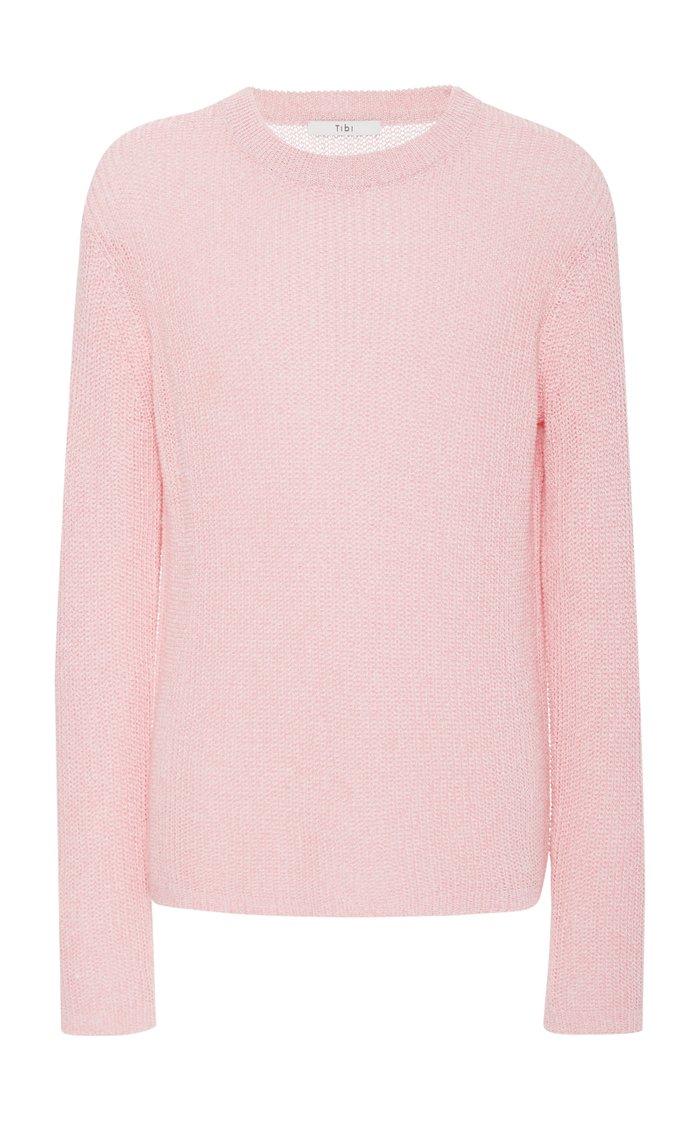 Crispy Cotton Sweater Crewneck Pullover