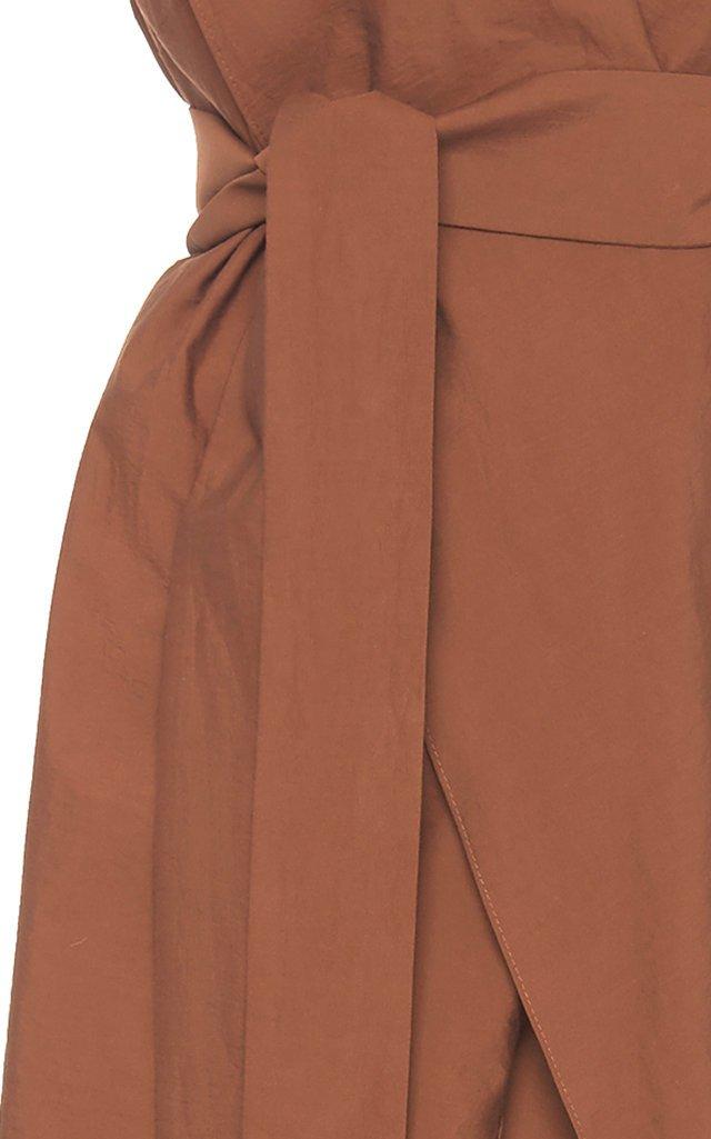 Cotton-Blend Wrap Dress