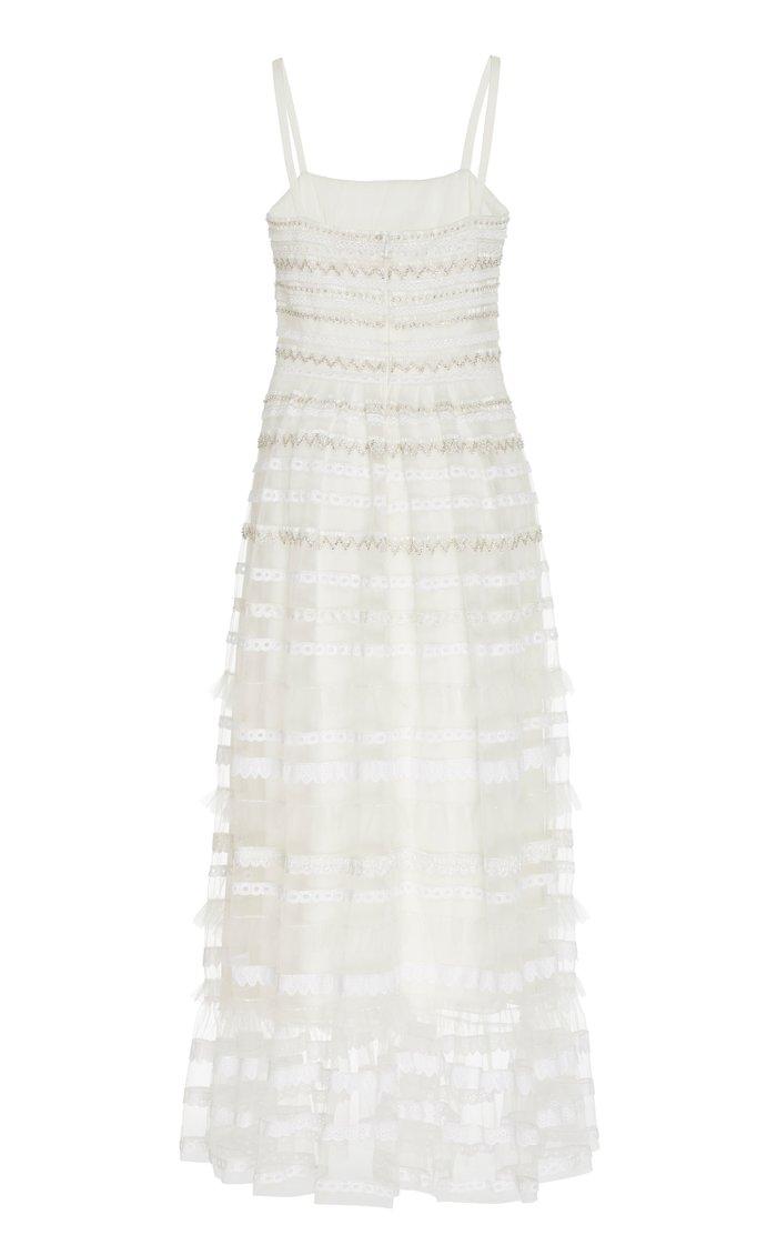 Promise Beaded Chiffon Midi Dress