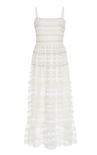 Promise Beaded Chiffon Midi Dress