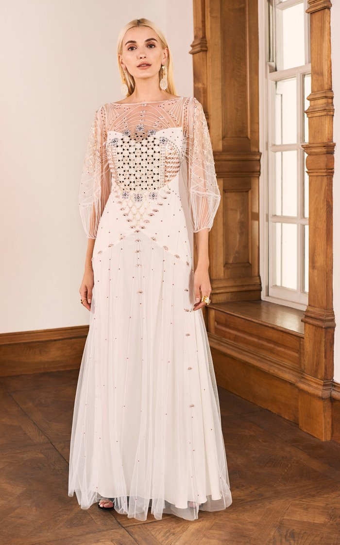 Promise Chiffon Beaded Gown