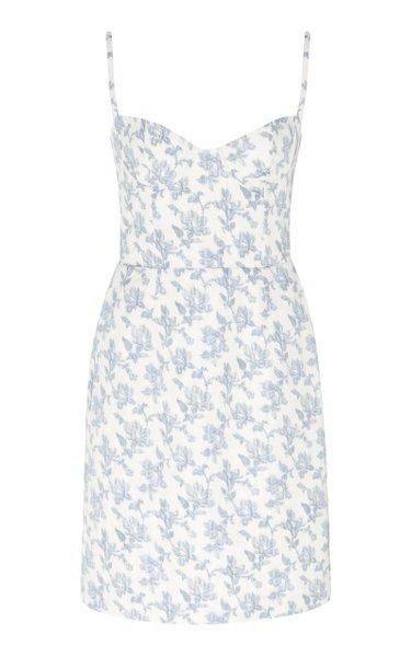 Floral-Print Poplin Mini Dress