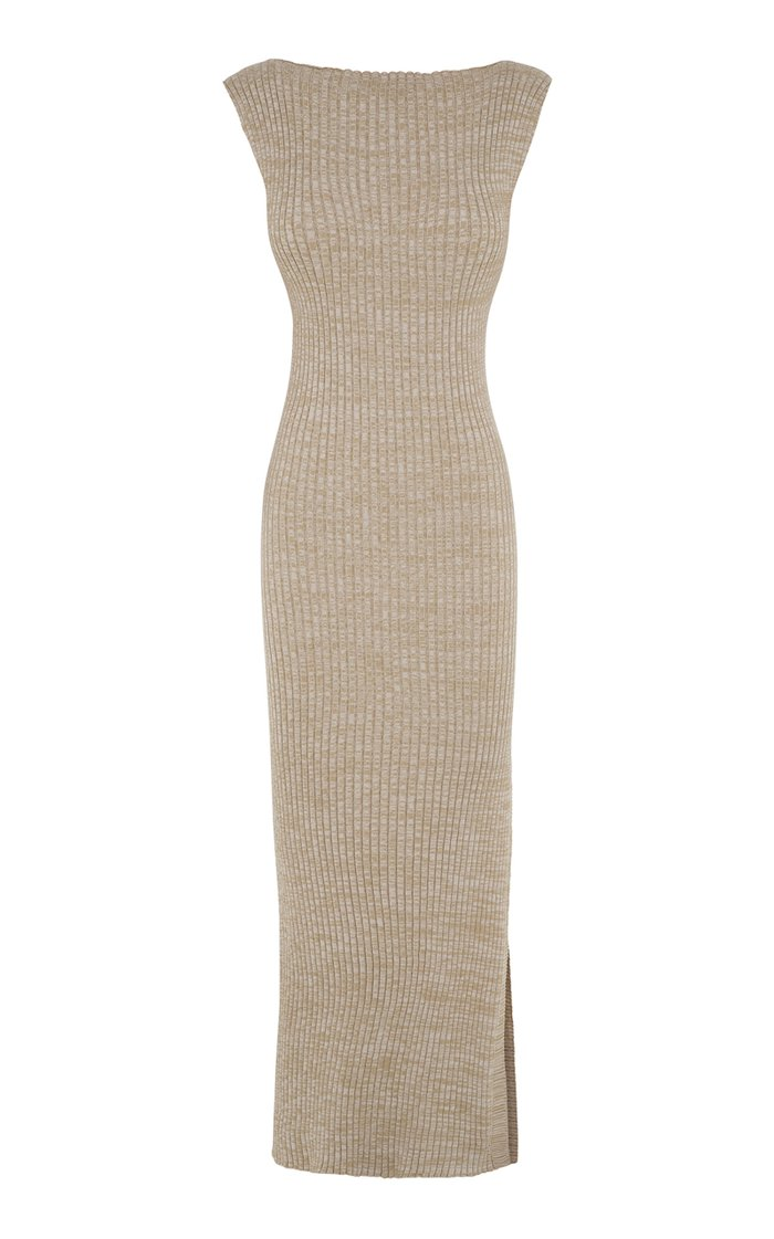 Drew Ribbed Cotton Midi Dress