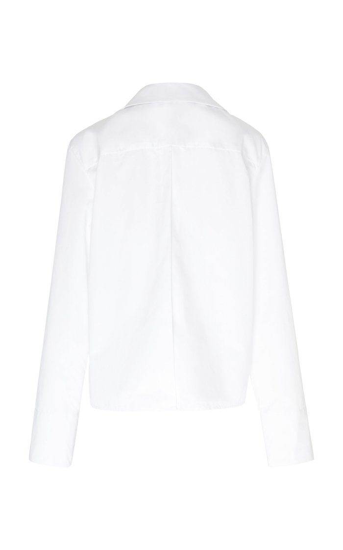 Gwyneth Cotton-Poplin Top