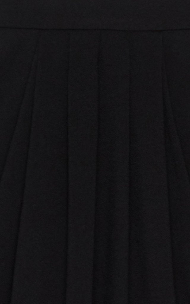 Draped Crepe Midi Skirt