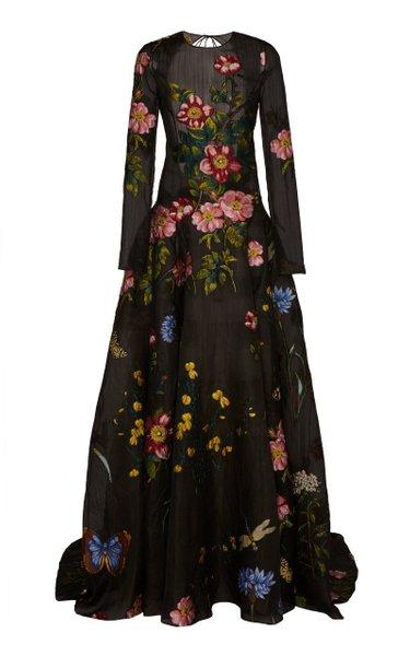 Floral Fil Coupé Gown