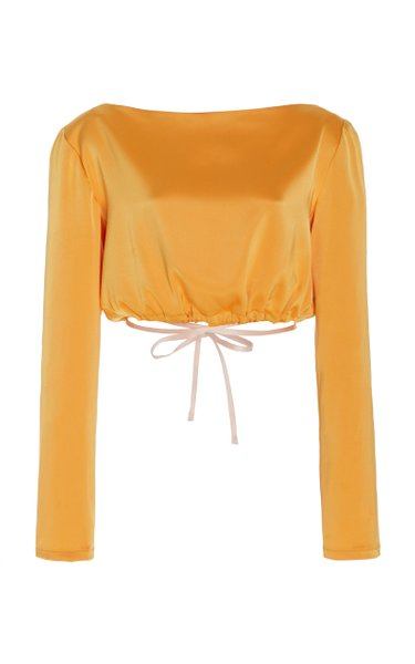Charlotte Cropped Satin Top