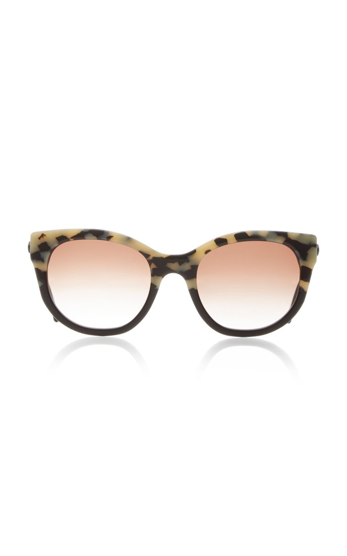 Lively Cat-Eye Printed Acetate Sunglasses