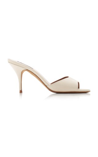 Jude Leather Open-Toe Mules