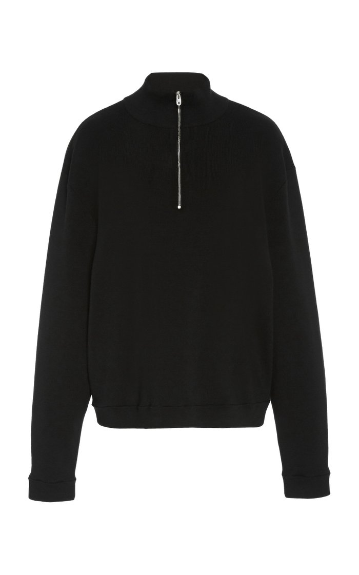 Molly Wool-Cashmere Quarter-Zip Sweater