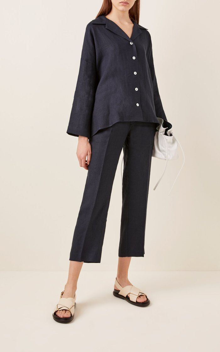 Linen Pyjama Top