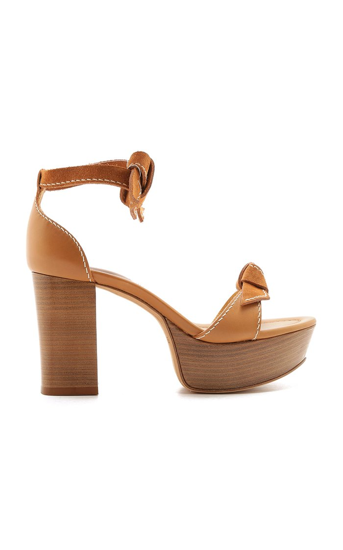 Clarita Bow-Detail Leather Sandals