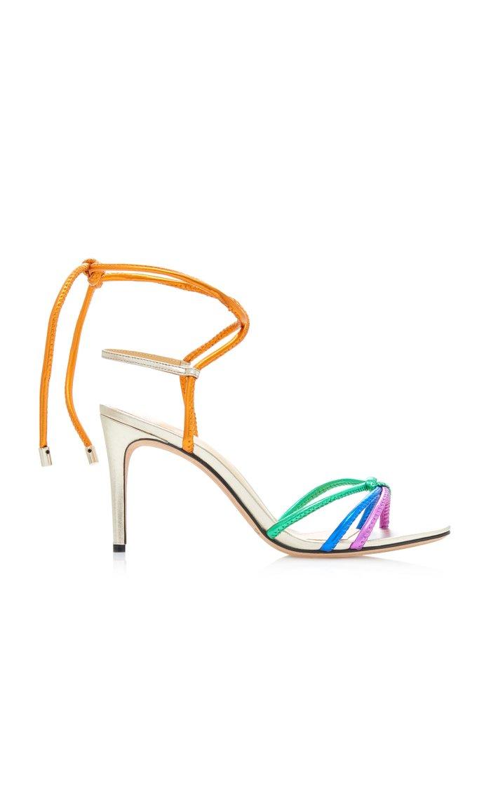 Rebecca Rainbow Strappy Metal Sandals