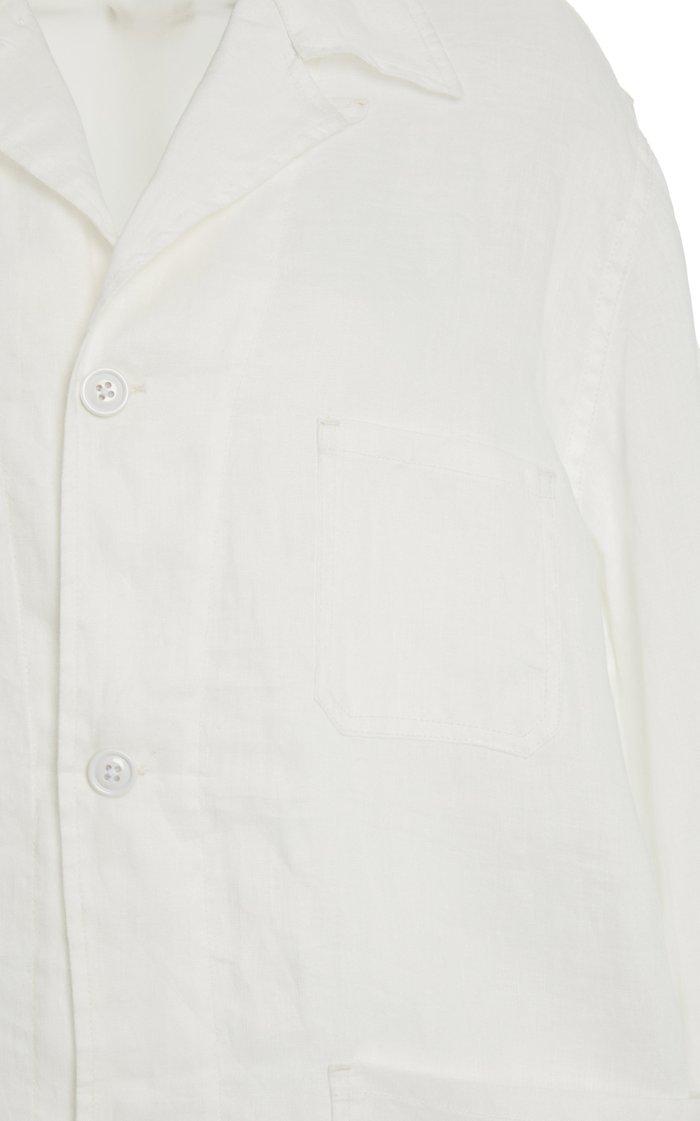 Oversized Linen Shirt Jacket