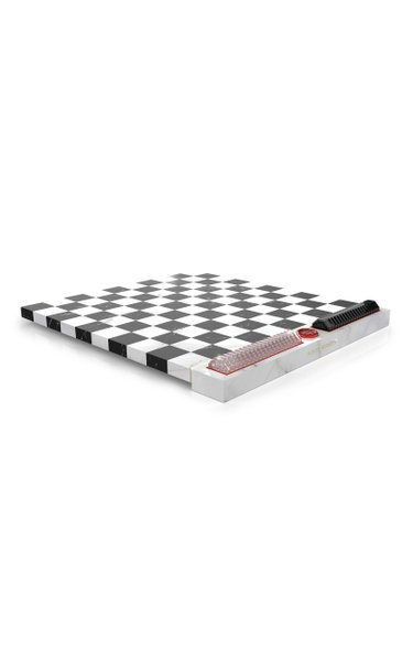 Marble And Crystal Checkers Set by Marcel Wanders