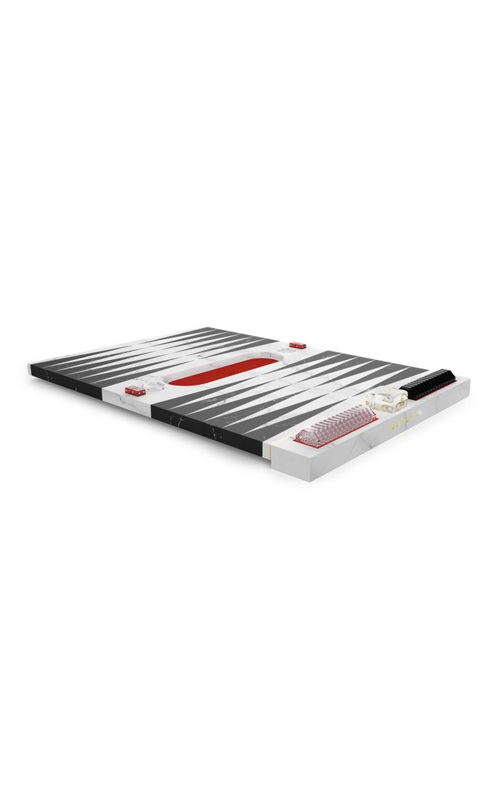 Marble And Crystal Backgammon Set By Marcel Wanders