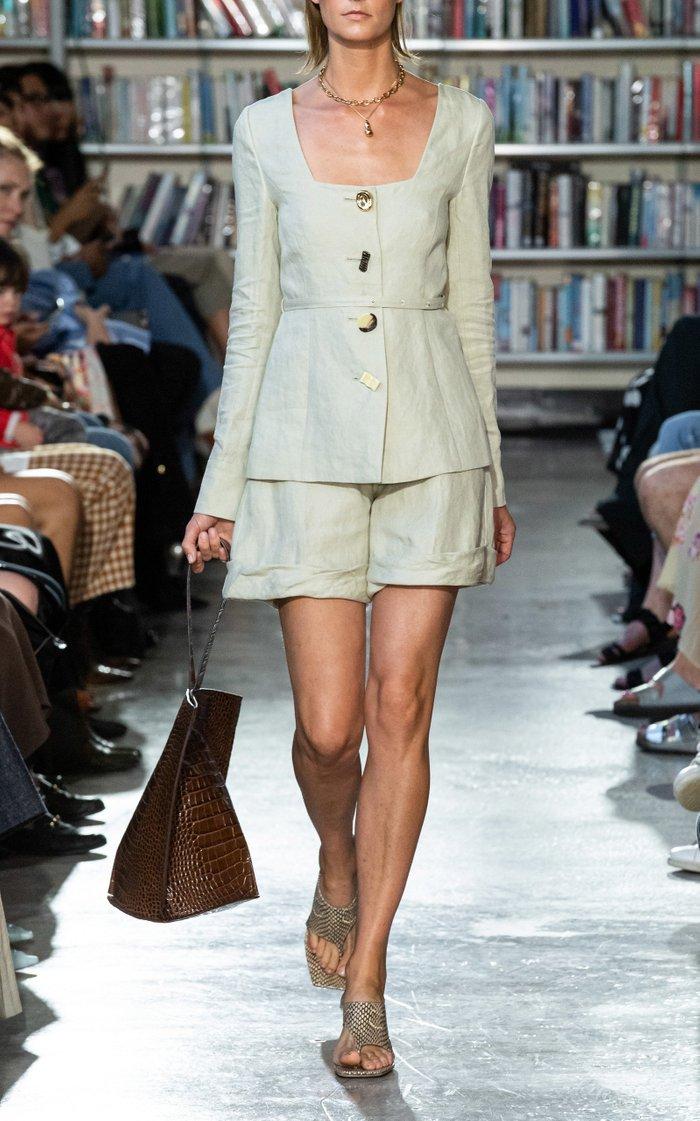 Oscar Cuffed Linen Shorts