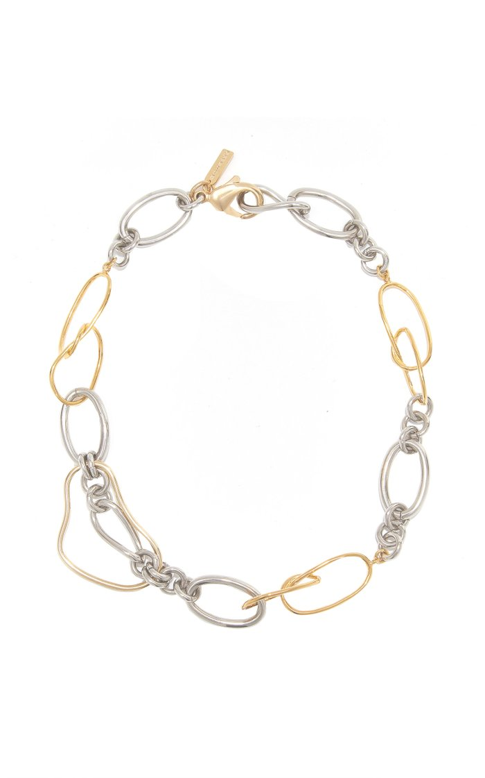 Undulate 14K Gold-Plated Mixed Chain Necklace