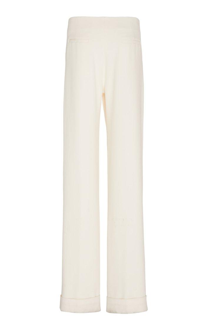 Stella Pleated Crepe Pants