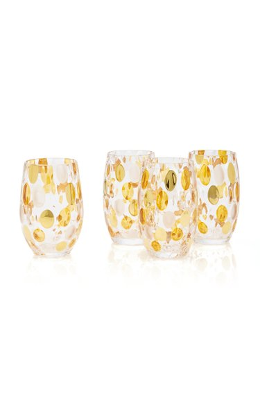 Set-of-4 Oval Dotted Glasses