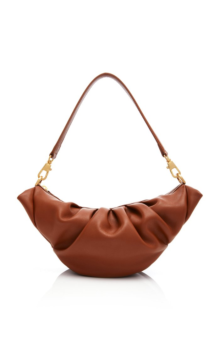Croissant Leather Shoulder Bag