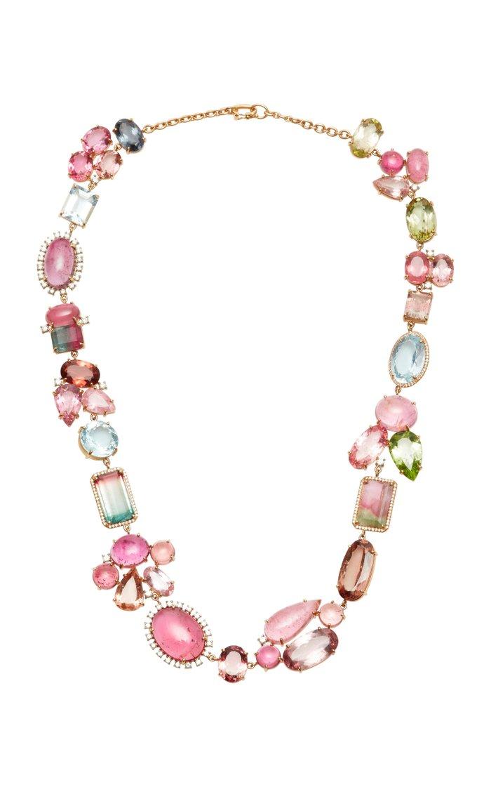 One Of a Kind 18k Rose-Gold Diamond Pave Necklace