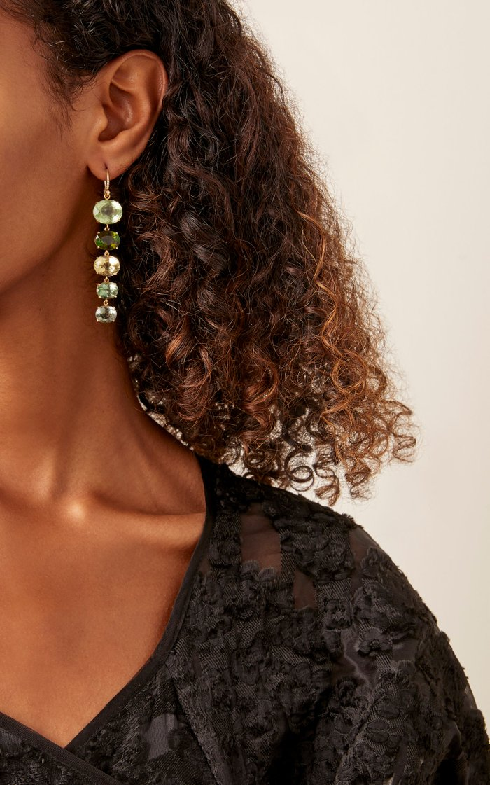 One of a Kind 18k Yellow-Gold Green Tourmaline Earrings