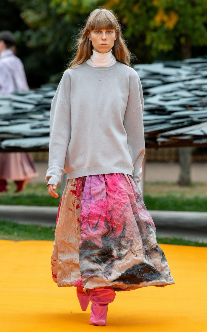 Keyra Crinkled Metal Midi Dress