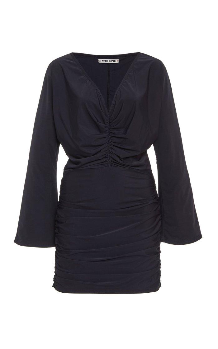 Bari Ruched Stretch-Jersey Mini Dress