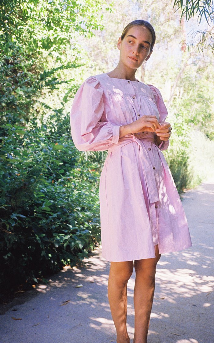 Fabianna Belted Cotton Shirt Dress