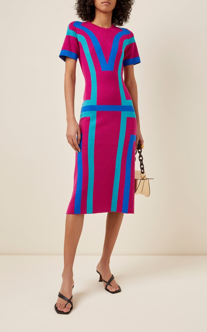 Color-Block Merino Wool Dress