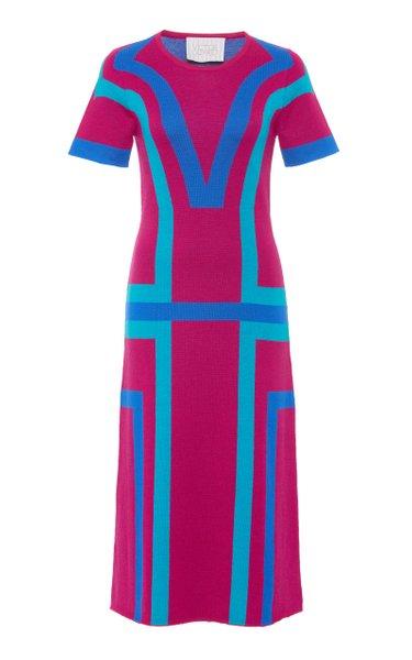 Color-Block Merino Wool Dress