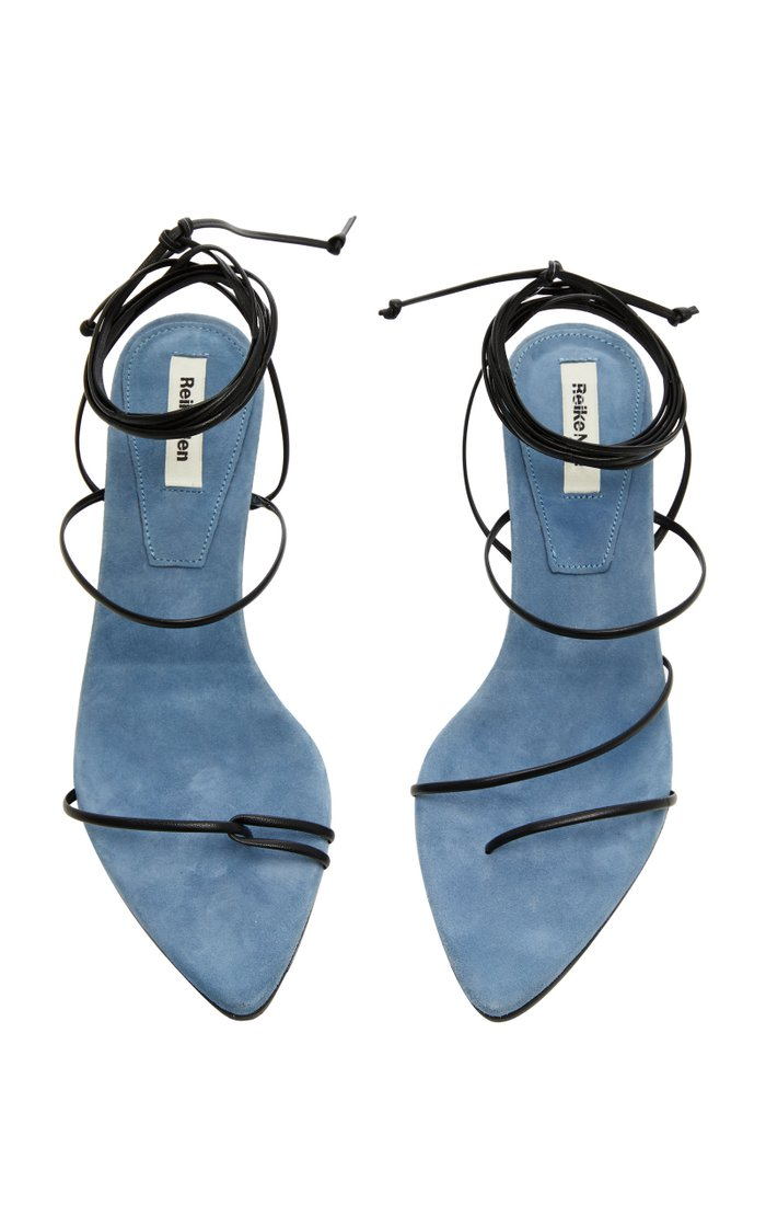 Odd Pair Two-Tone Suede Sandals