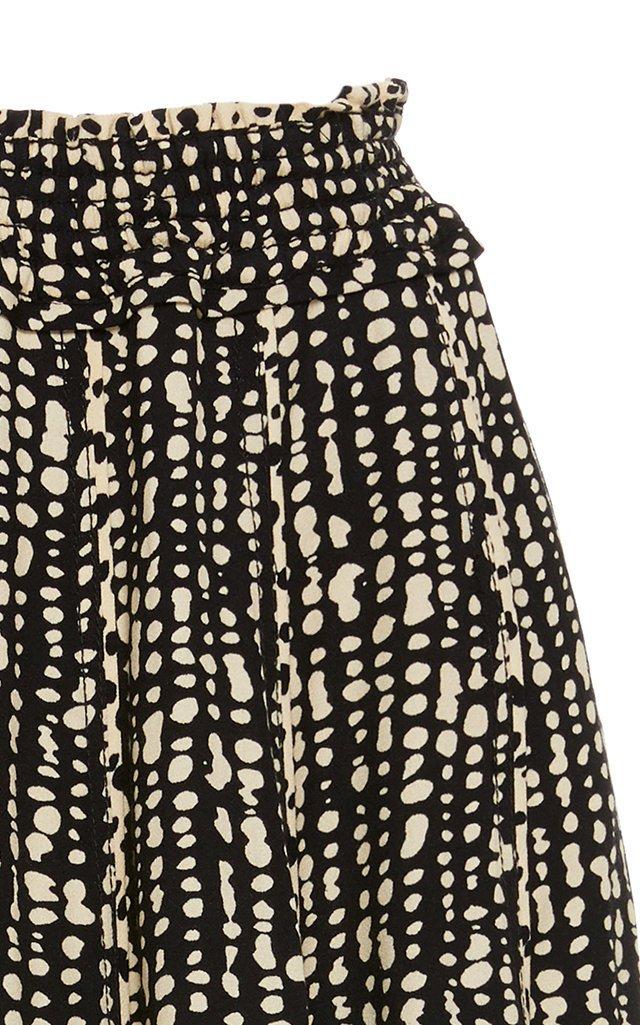 Inky Dot Pleated Skirt