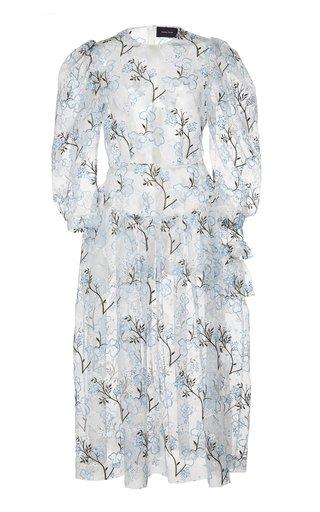 Single Bite Printed Organza Dress