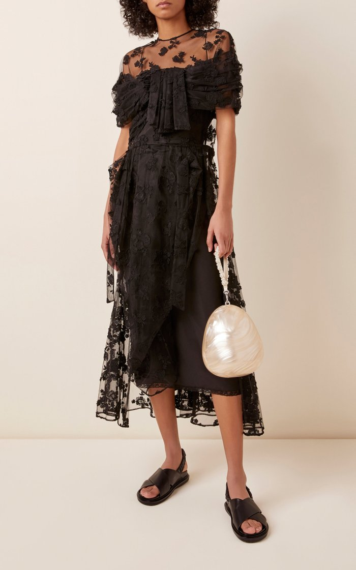 Perspex Pearl Acrylic Top Handle Bag
