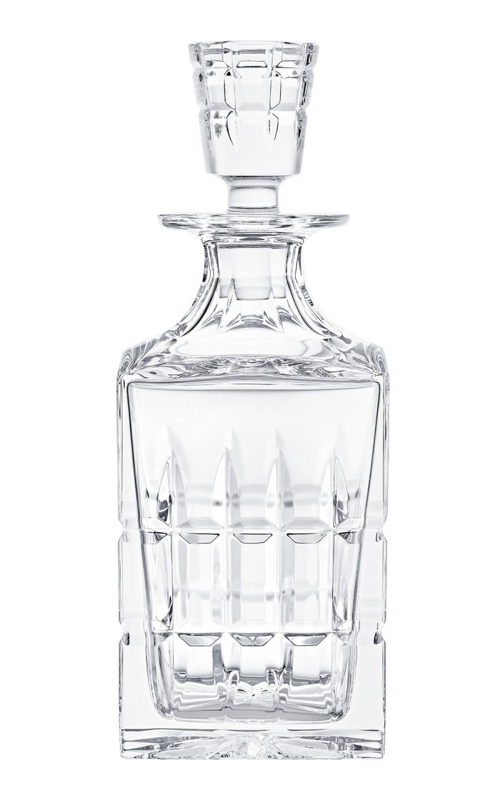 On The Rocks Crystal Decanter And Tumbler Set