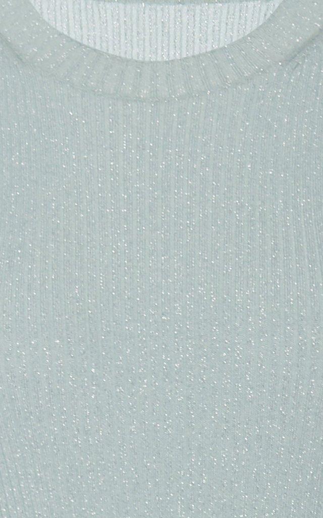 Ribbed-Knit Crewneck Mini Dress