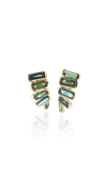 Kaxinawa 18K Gold And Tourmaline Earrings