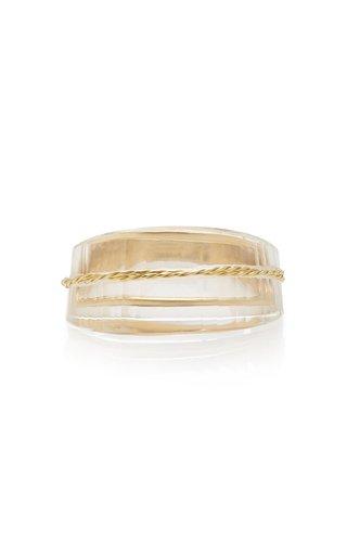 Facetas 18K Gold and Quartz Ring