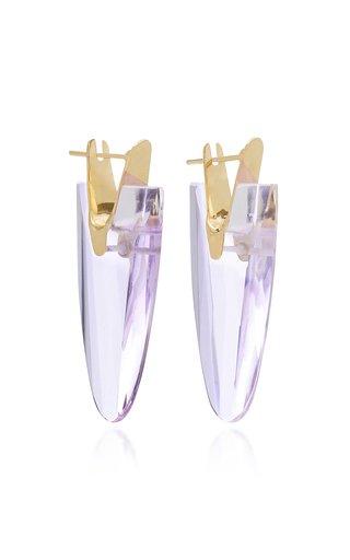 Wama 18K Gold And Quartz Earrings