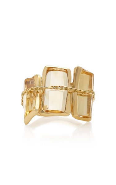 Tucum III 18K Gold and Quartz Ring